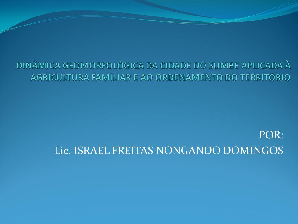 POR: Lic. ISRAEL FREITAS NONGANDO DOMINGOS