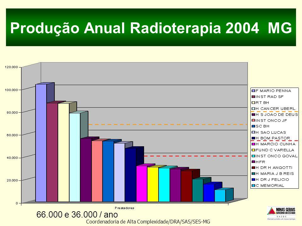 Produção Anual Radioterapia 2004 MG