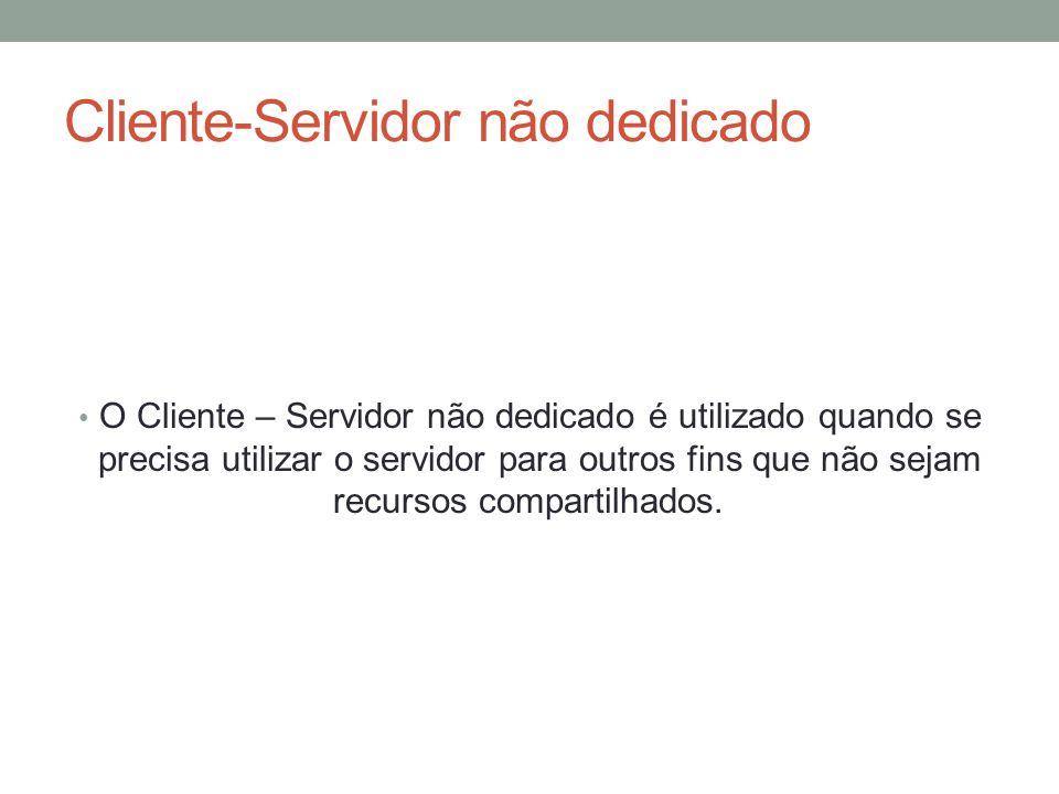 Cliente-Servidor não dedicado