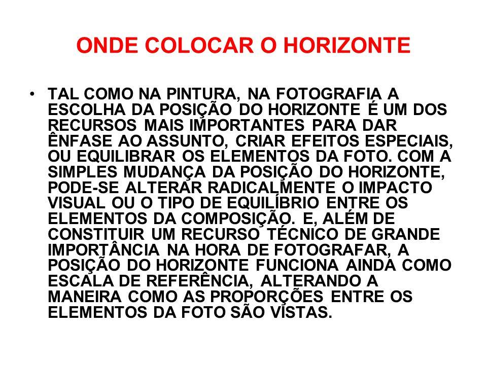ONDE COLOCAR O HORIZONTE