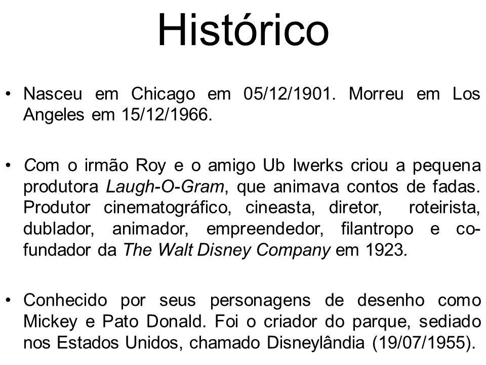 Histórico Nasceu em Chicago em 05/12/1901. Morreu em Los Angeles em 15/12/1966.