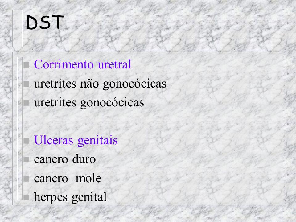 DST Corrimento uretral uretrites não gonocócicas uretrites gonocócicas