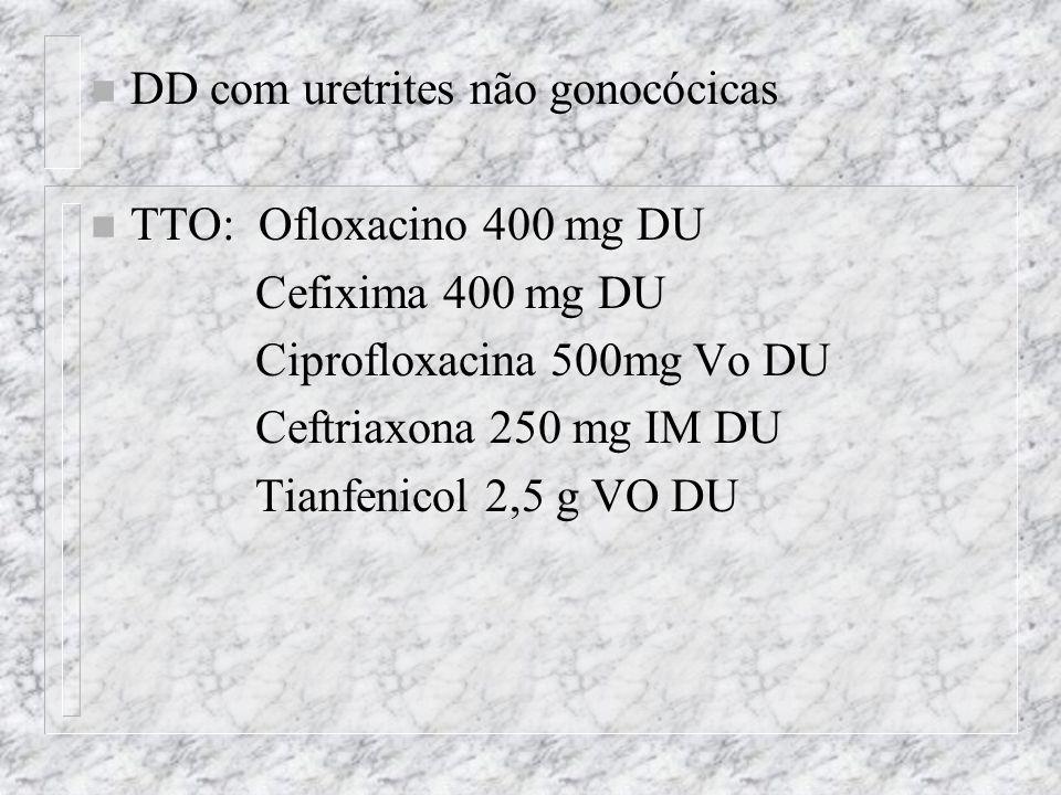 DD com uretrites não gonocócicas