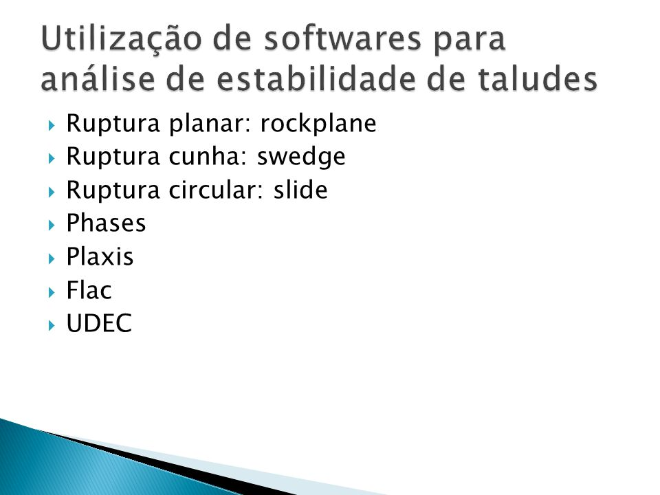 Utilização de softwares para análise de estabilidade de taludes