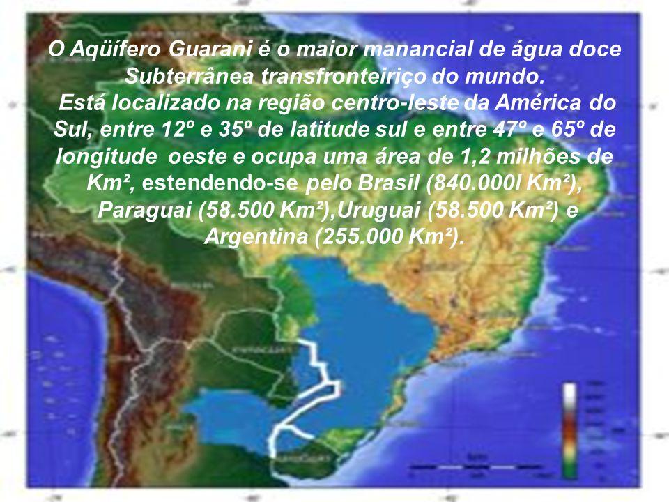 O Aqüífero Guarani é o maior manancial de água doce