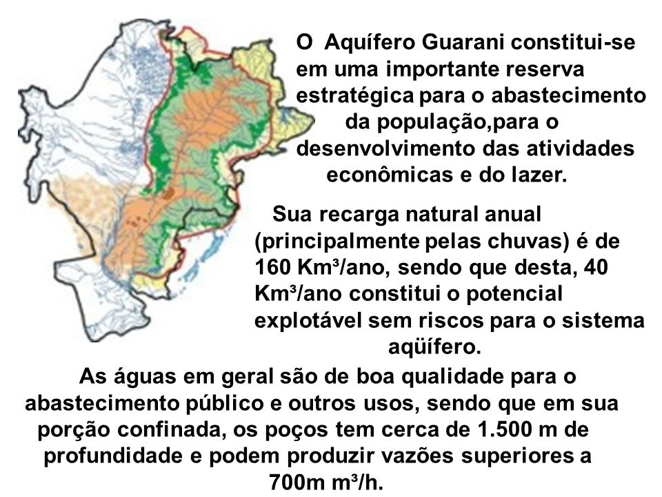 O Aquífero Guarani constitui-se em uma importante reserva