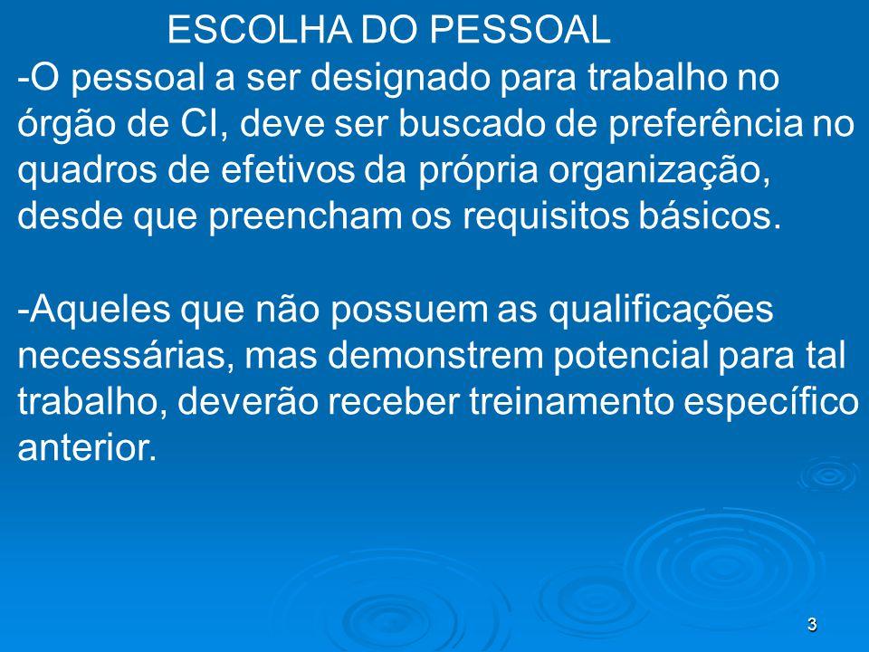 ESCOLHA DO PESSOAL