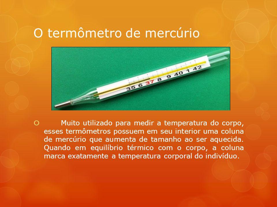 O termômetro de mercúrio