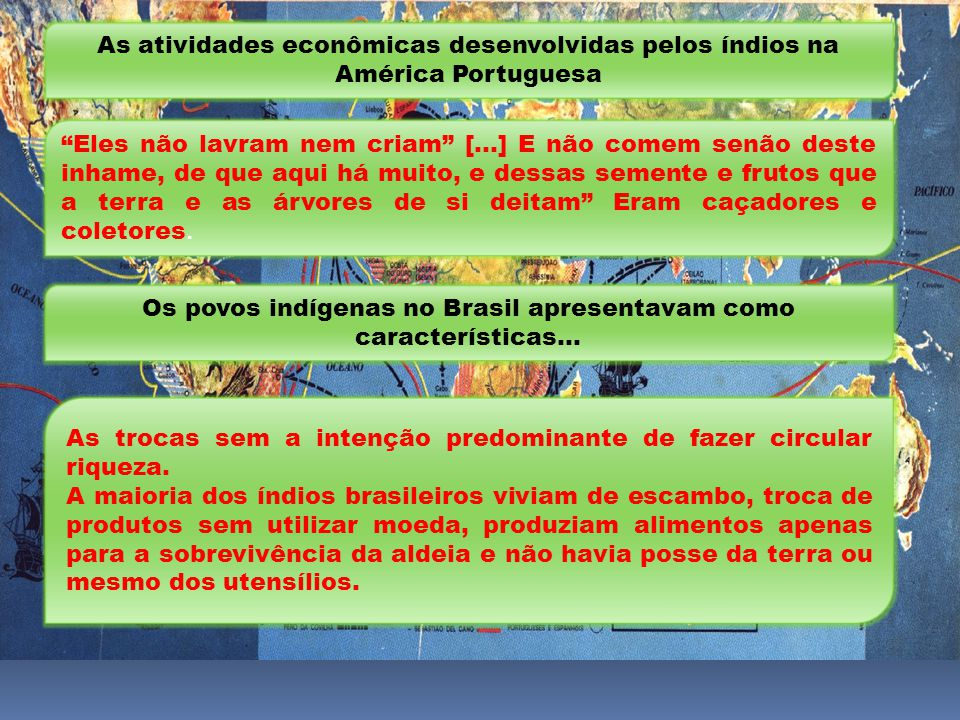 Os povos indígenas no Brasil apresentavam como características...