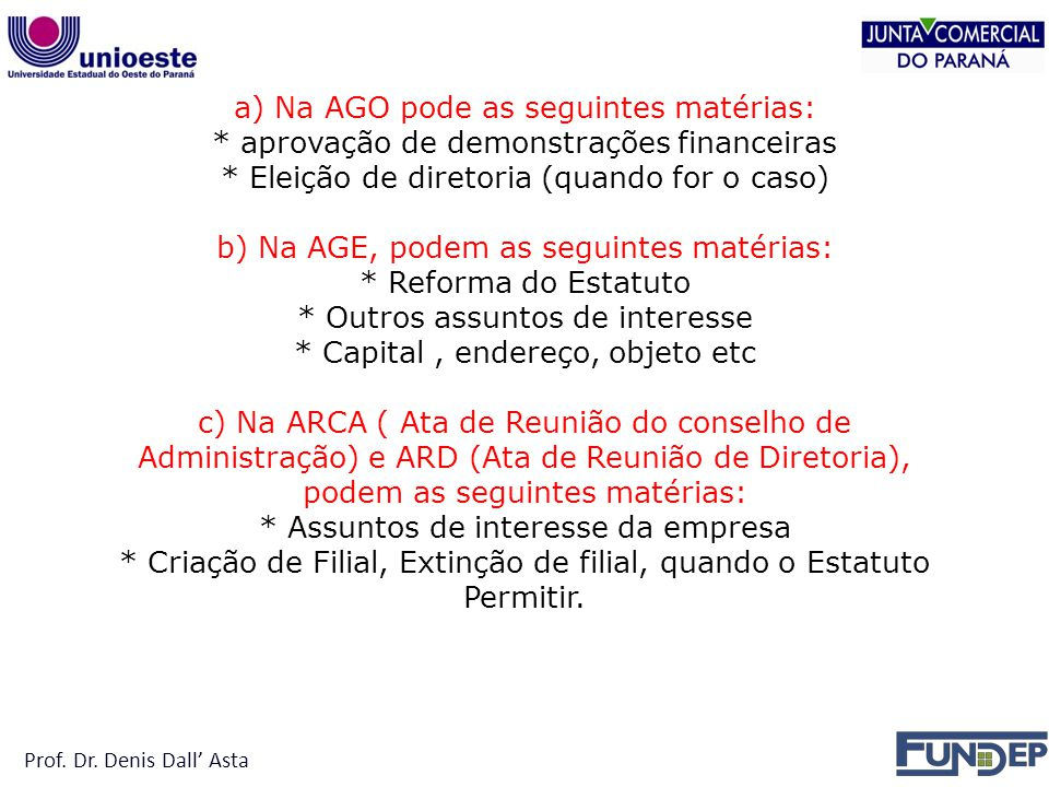 Prof. Dr. Denis Dall' Asta