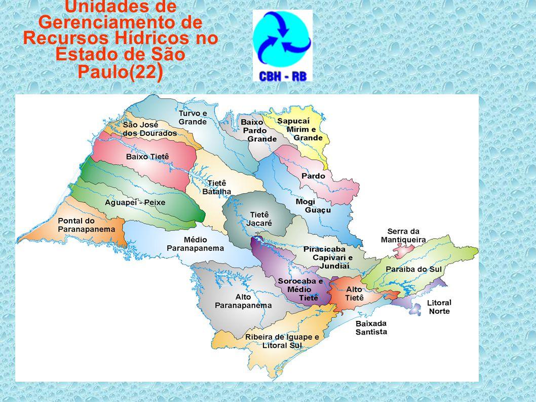 Unidades de Gerenciamento de Recursos Hídricos no Estado de São Paulo(22)