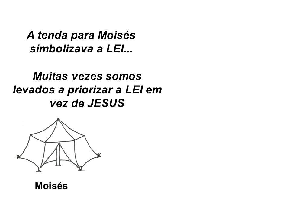 A tenda para Moisés simbolizava a LEI...