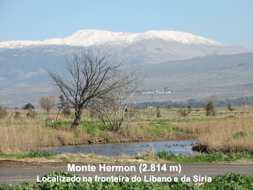 Localizado na fronteira do Líbano e da Síria