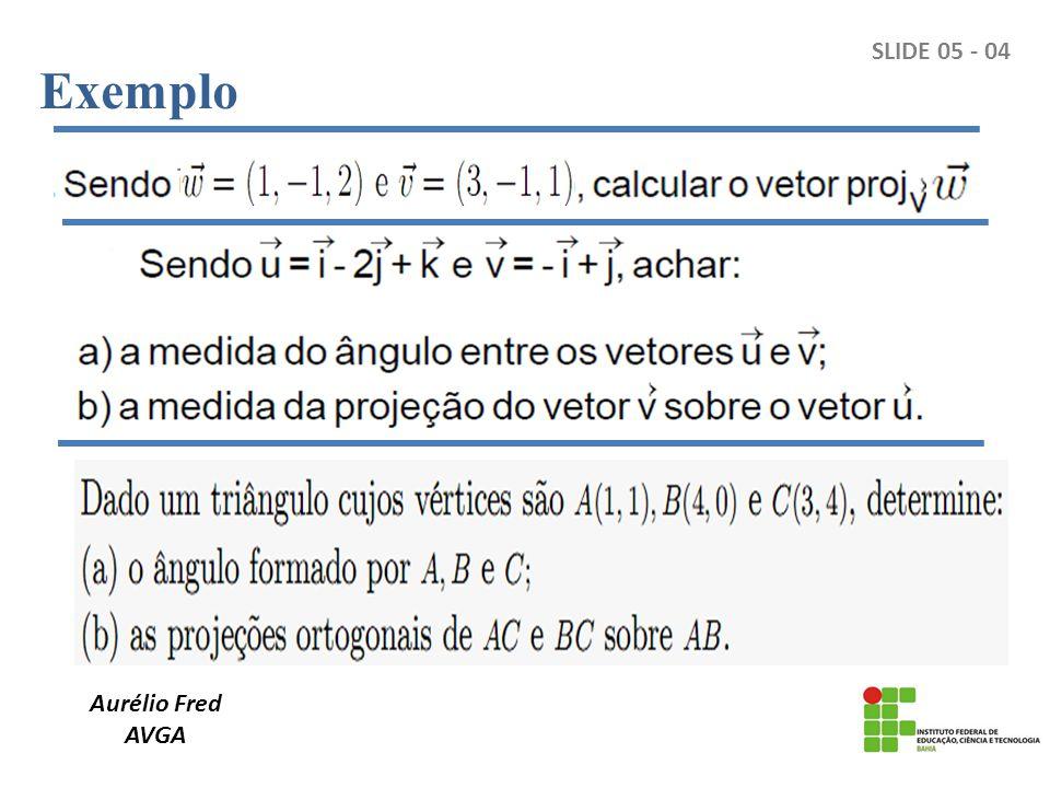 Exemplo SLIDE 05 - 04 Aurélio Fred AVGA
