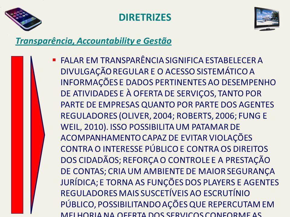 DIRETRIZES Transparência, Accountability e Gestão