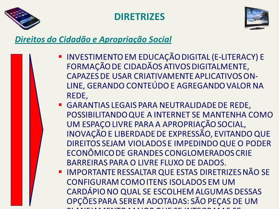 DIRETRIZES Direitos do Cidadão e Apropriação Social