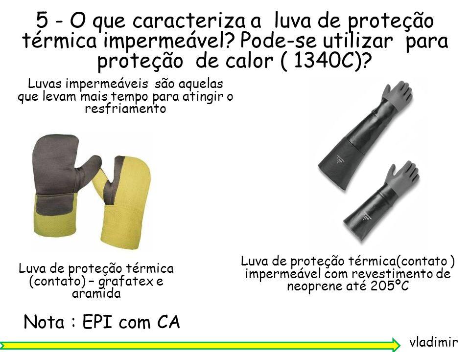 Luva de proteção térmica (contato) – grafatex e aramida