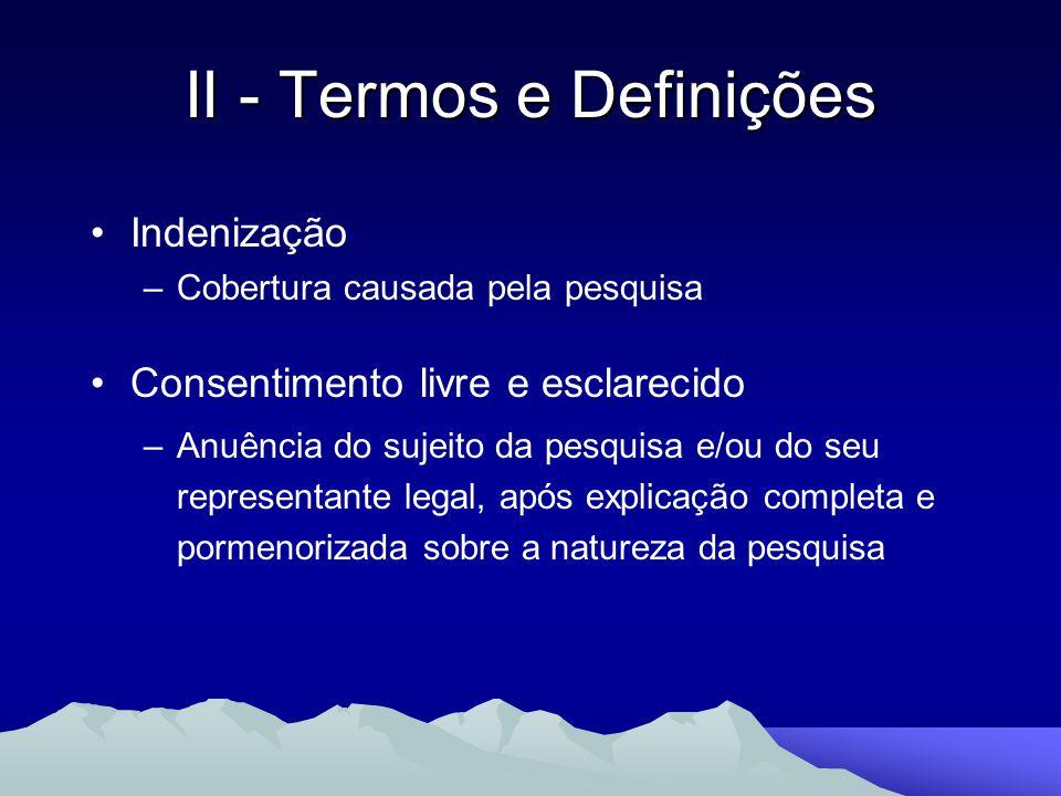 II - Termos e Definições