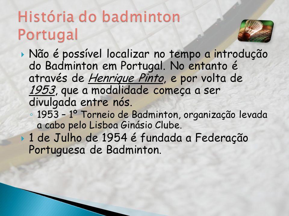 História do badminton Portugal