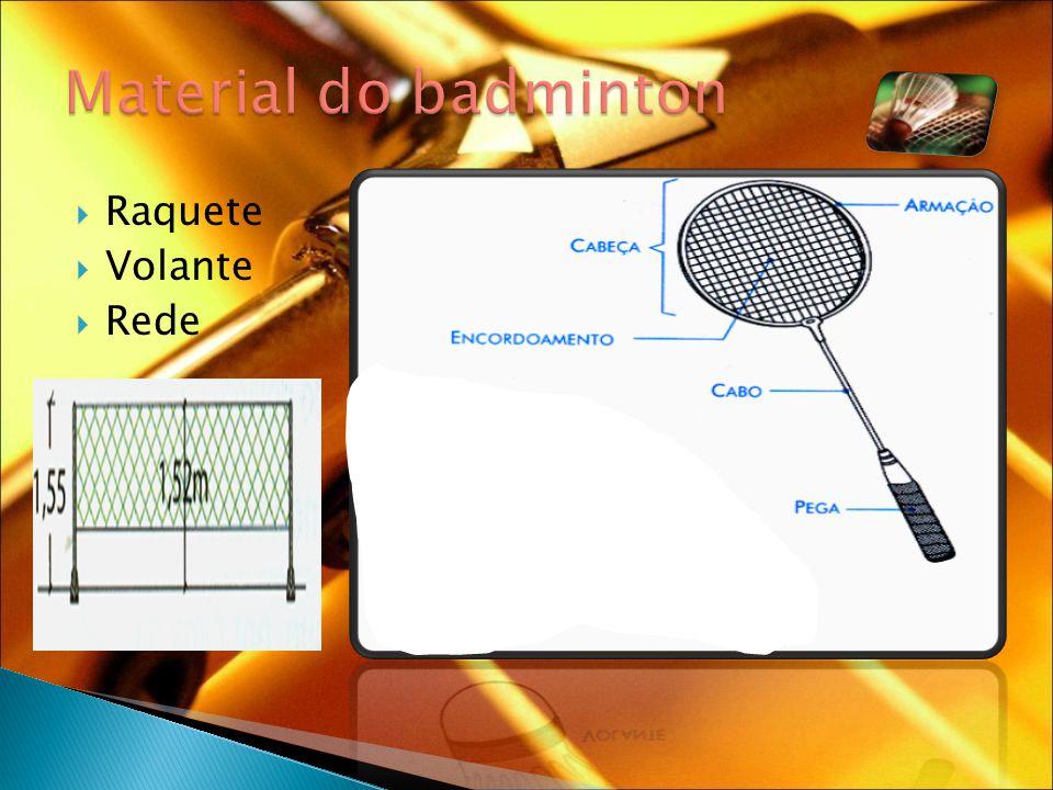 Material do badminton Raquete Volante Rede Saia