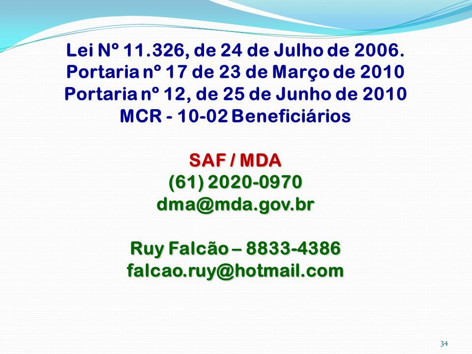 Portaria nº 17 de 23 de Março de 2010