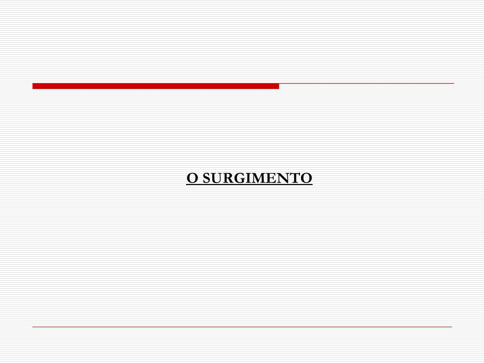 O SURGIMENTO