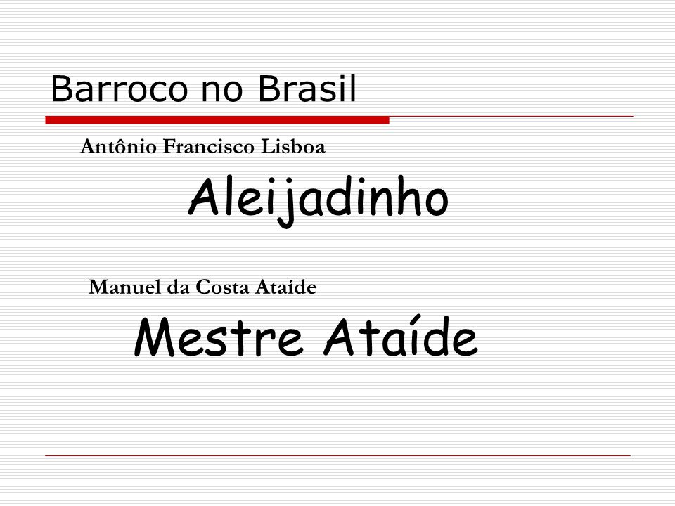 Antônio Francisco Lisboa