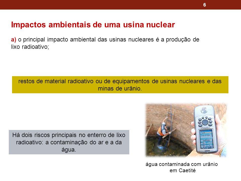Impactos ambientais de uma usina nuclear