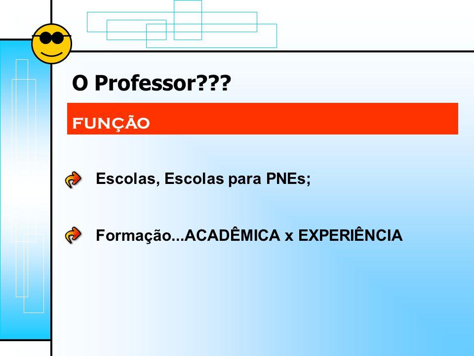 O Professor FUNÇÃO Escolas, Escolas para PNEs;