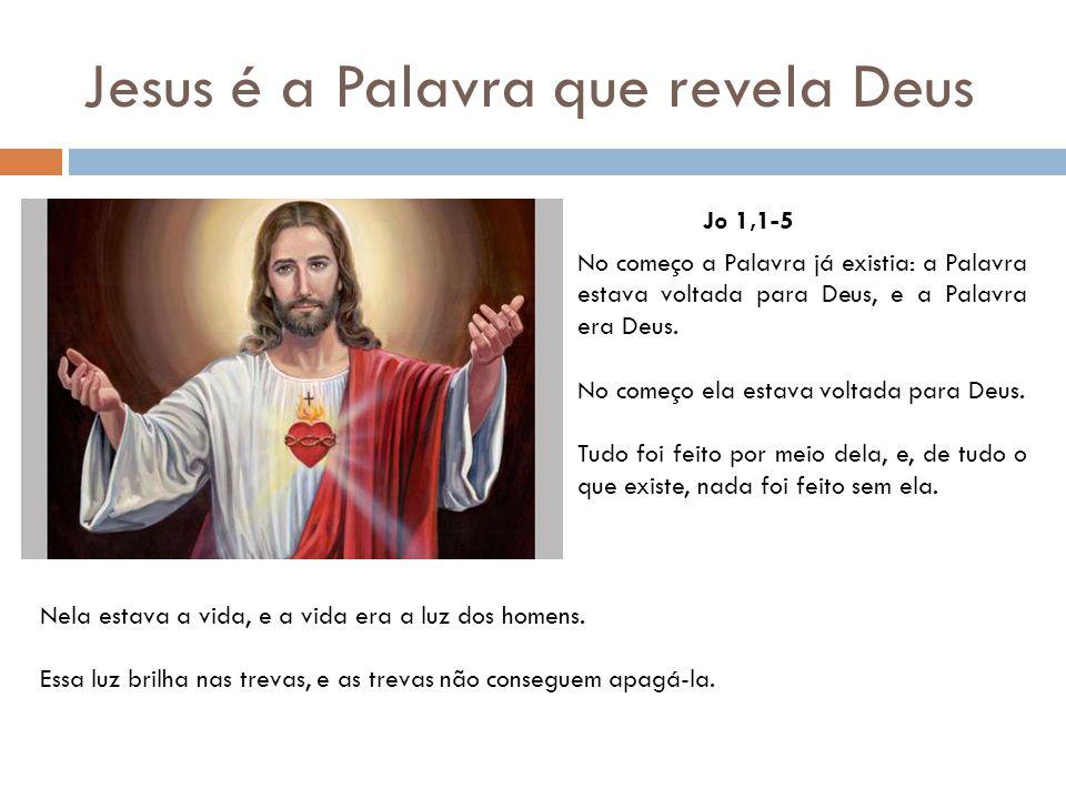 Jesus é a Palavra que revela Deus