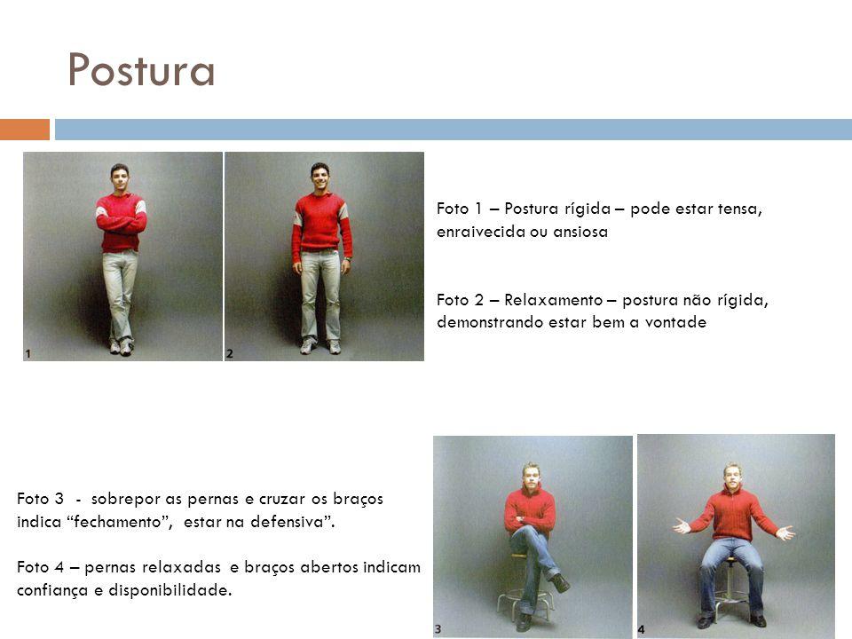 Postura Foto 1 – Postura rígida – pode estar tensa, enraivecida ou ansiosa.
