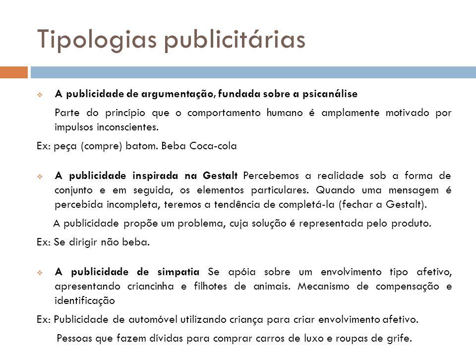 Tipologias publicitárias
