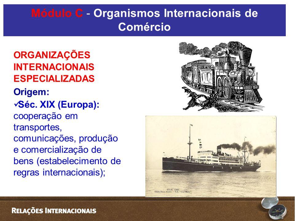 Módulo C - Organismos Internacionais de Comércio