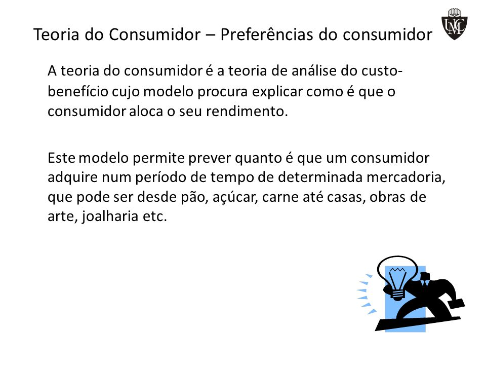 Teoria do Consumidor – Preferências do consumidor