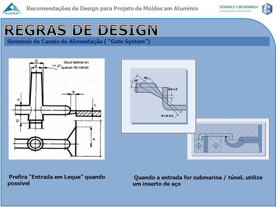 Recomendações de Design para Projeto de Moldes am Alumínio
