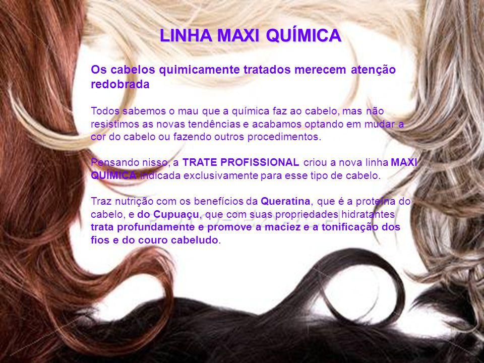 LINHA MAXI QUÍMICA Os cabelos quimicamente tratados merecem atenção redobrada.
