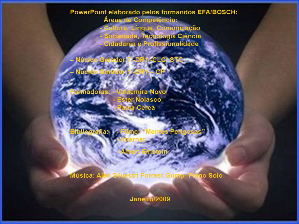 PowerPoint elaborado pelos formandos EFA/BOSCH:. Áreas de Competência: