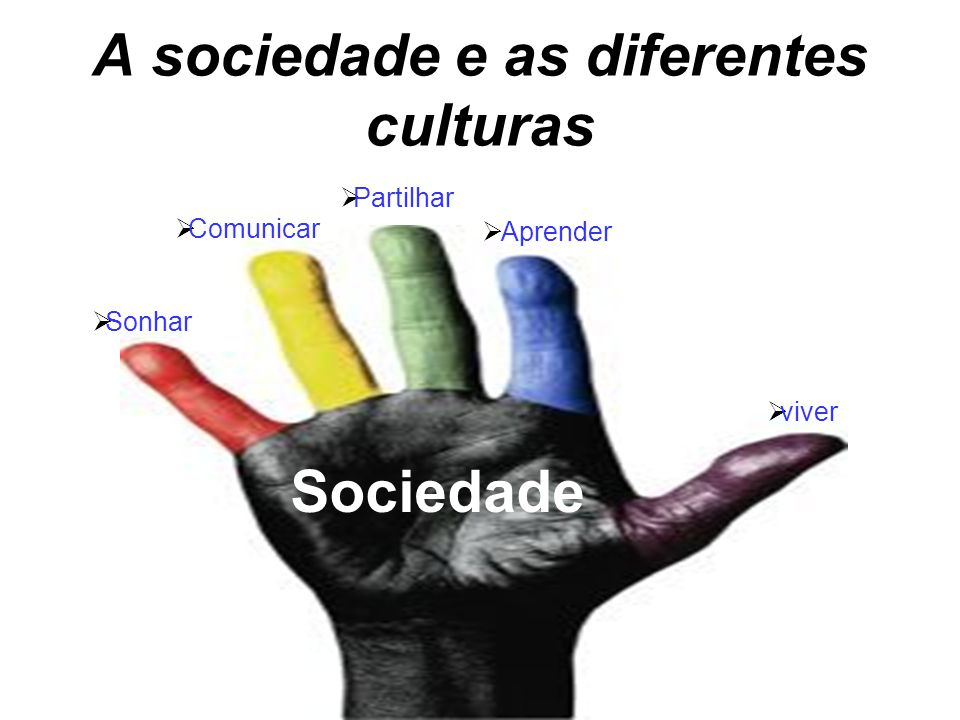 A sociedade e as diferentes culturas