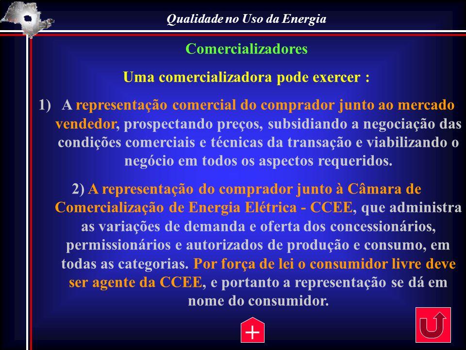 Qualidade no Uso da Energia Uma comercializadora pode exercer :