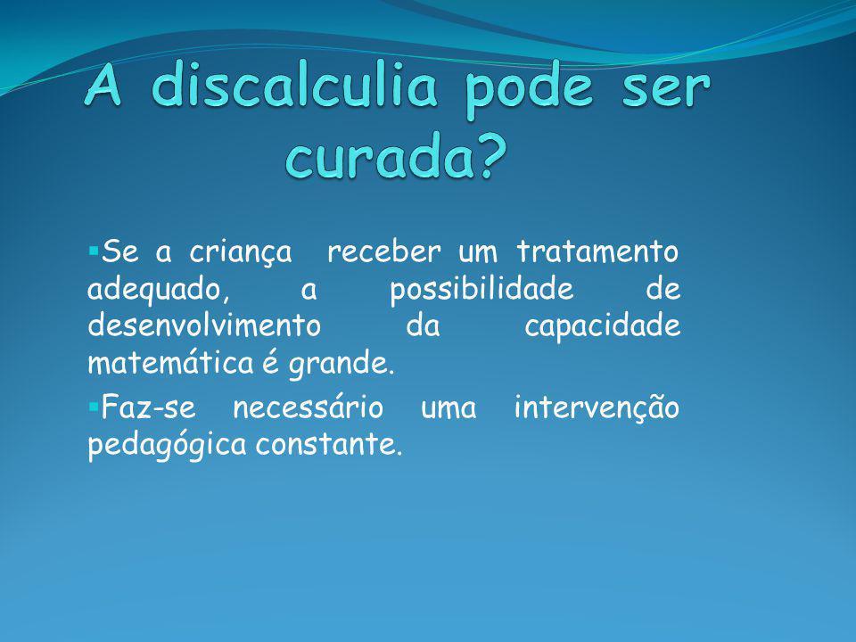 A discalculia pode ser curada