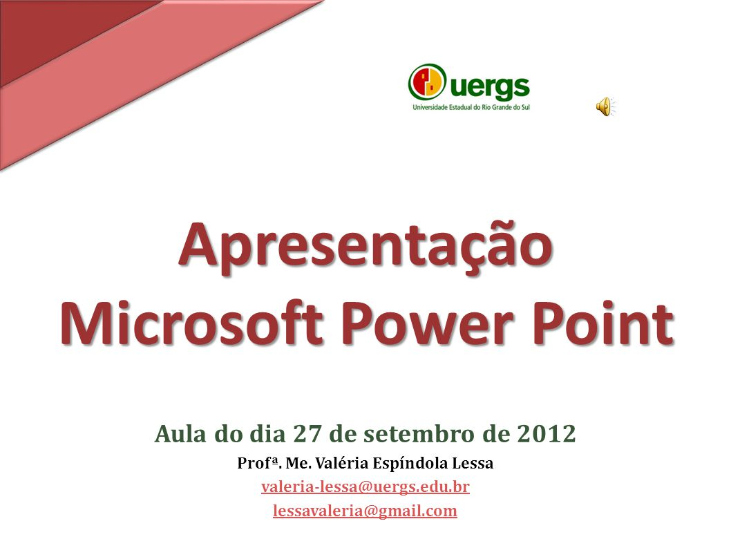 Apresentacao power point