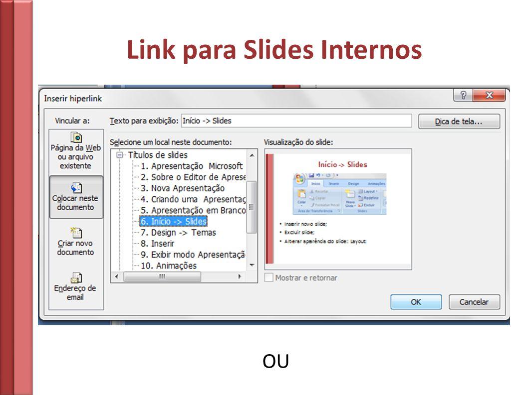 Link para Slides Internos