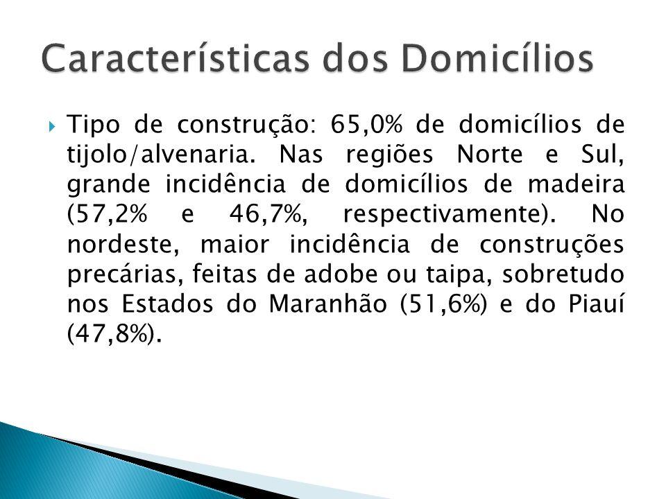 Características dos Domicílios