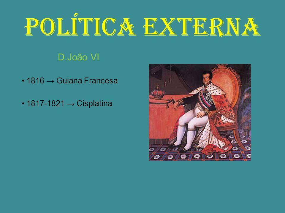 POLÍTICA EXTERNA D.João VI • 1816 → Guiana Francesa
