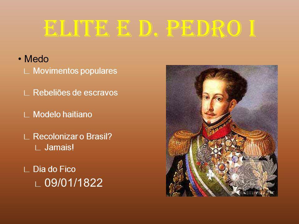 ELITE E D. PEDRO I • Medo ∟ Movimentos populares