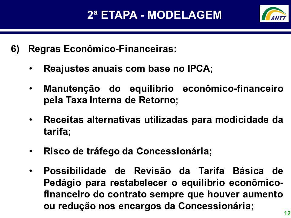 2ª ETAPA - MODELAGEM Regras Econômico-Financeiras: