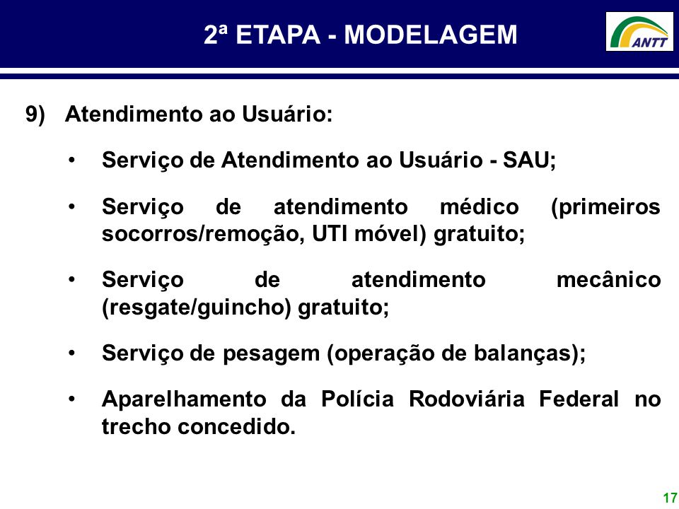 2ª ETAPA - MODELAGEM Atendimento ao Usuário: