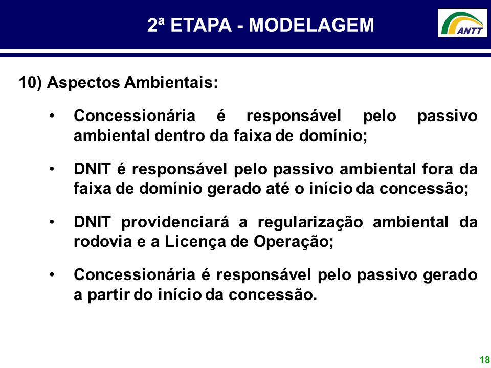 2ª ETAPA - MODELAGEM Aspectos Ambientais: