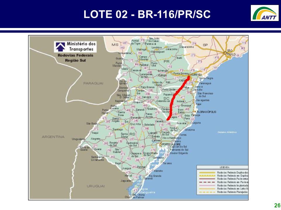 LOTE 02 - BR-116/PR/SC