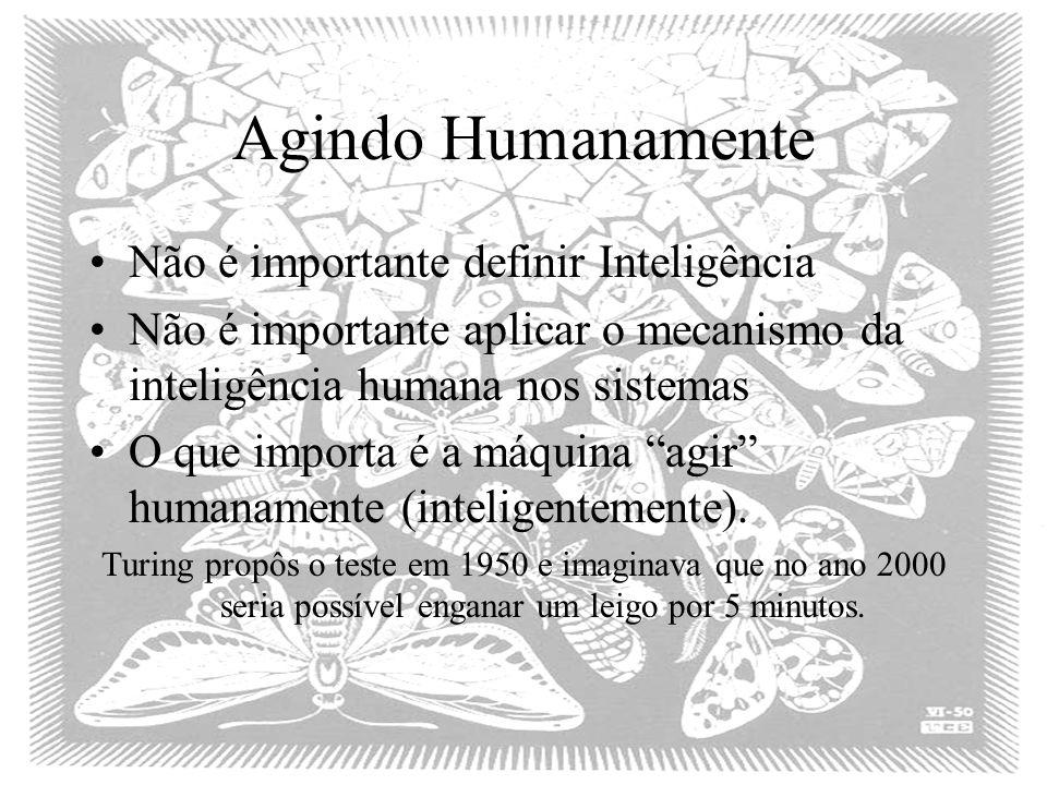 Agindo Humanamente Não é importante definir Inteligência